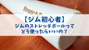 【ジム初心者】ジムのストレッチポールってどう使ったらいいの?